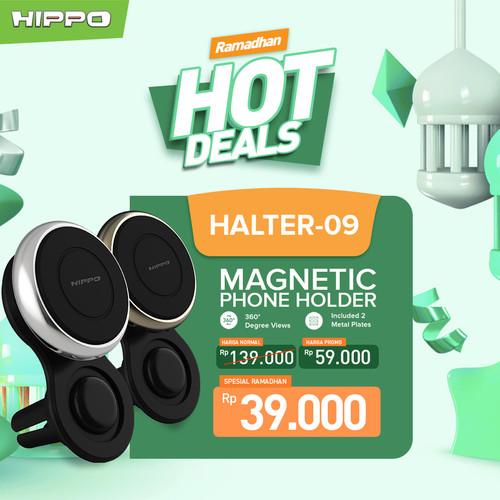 Foto Produk Hippo Magnetic Phone Car Holder Mobil Build in 4 N52 Magnet Halter 09 - Black Gold dari Hippo Official Store
