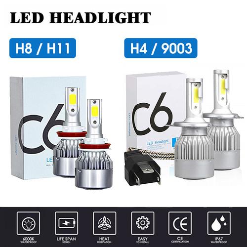 Foto Produk Lampu LED Mobil Headlight Lampu Utama Mobil C6 H4 H11 H8 H9 H16 36W - 1 PCS H8 dari PastiLakuJkt