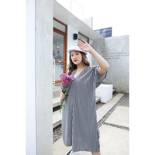 Foto Produk Yoenik Apparel Prayata Stripe Dress Black M15408 R22S2 dari Yoenik Apparel