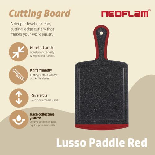 Foto Produk Talenan Neoflam Lusso Marble Paddle - Merah dari Neoflam Official Store