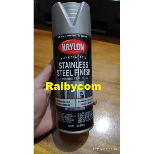 Foto Produk Krylon Cat Semprot Stainless Steel Finish USA Spray Paint Stainles dari Raibycom