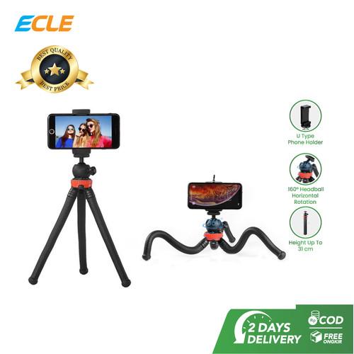 Foto Produk ECLE Flexible Octopus Tripod Gorilla Pod Camera HP Holder Portable dari ECLE Official Store