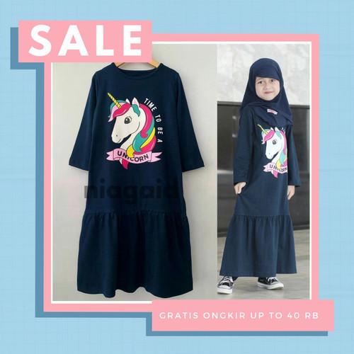 Foto Produk Gamis Dress Terbaru Baju Busana Muslim Anak Perempuan 2-8 Tahun Lala - size 2 dari niagaid