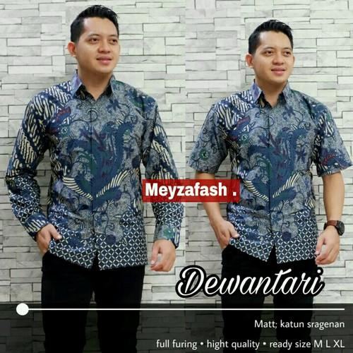 Foto Produk kemeja batik ludiro biru premium dari Jivan Batik