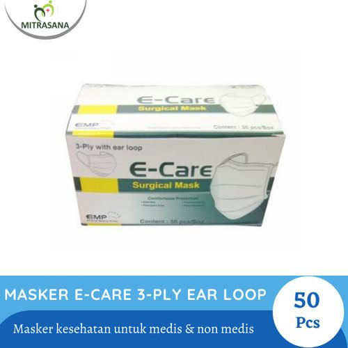 Foto Produk Masker Kesehatan E-Care 3-Ply Ear Loop Isi 50 Pcs dari Mitrasana Tangerang