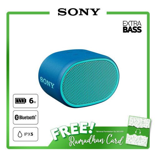 Foto Produk SONY SRS-XB01 Blue Extra Bass Portable Bluetooth Speaker / SRS XB01 dari Sony Audio Official