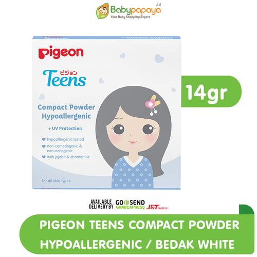 Foto Produk PIGEON Teens Compact Powder Hypoallergenic 14gr | Bedak Compact Remaja - Merah Muda dari Babypapayaid