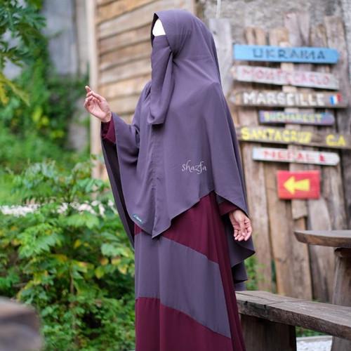 Foto Produk Gamis set GSCK 05 by Shazfa size S M L XL - darkMaroon-iron, L dari Gerai Aqila Azka