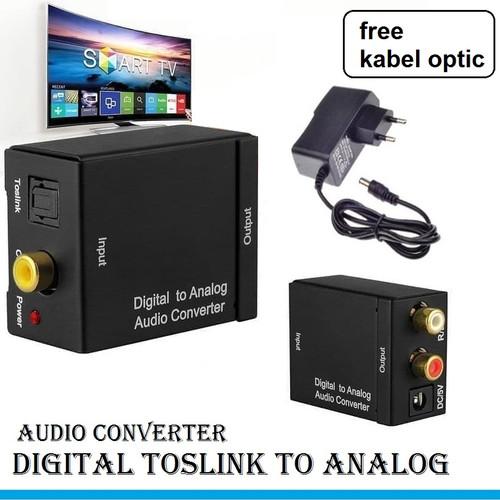 Foto Produk Converter Audio Digital to Analog - Optical / Toslink to 2 RCA dari Glodok VCD