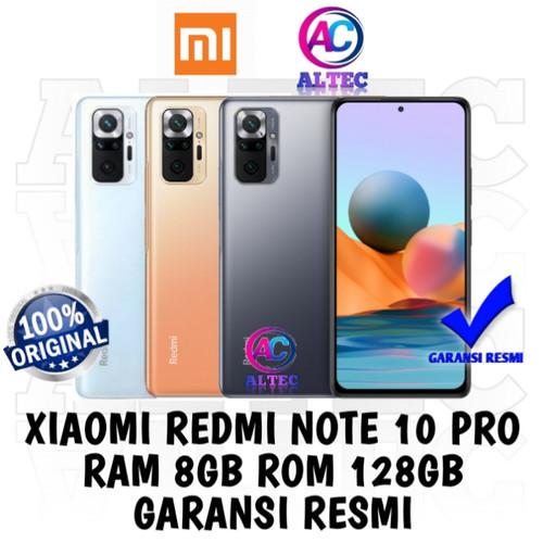 Foto Produk Xiaomi Redmi Note 10 Pro 8/128 RAM 8GB ROM 128GB GARANSI RESMI - GLACIER BLUE dari Altec Cellular