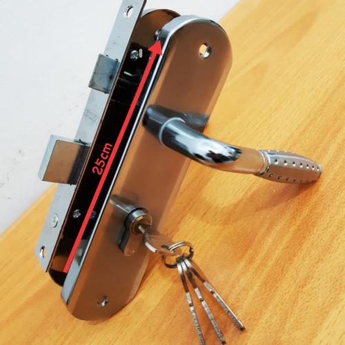 Foto Produk Kunci Pintu Set Besar 25cm / Gagang Pintu Rumah - Silver dari The Season88