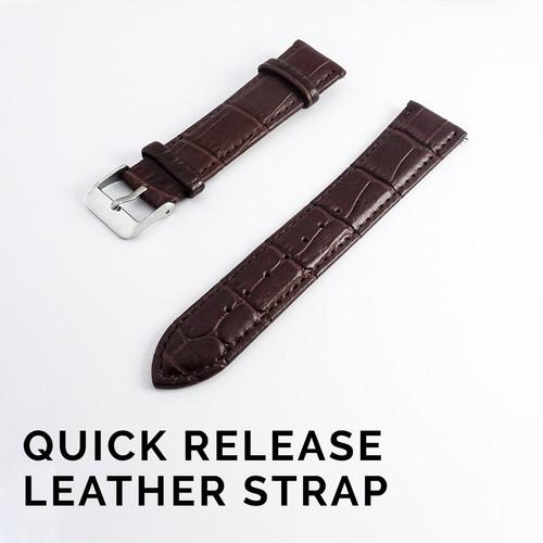 Foto Produk Strap Jam Tangan Kulit 20mm Quick Release - Cokelat dari Solo Timepiece