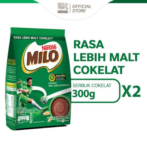 Foto Produk NESTLE MILO ACTIV-GO Minuman Cokelat Berenergi Pouch 300g 2 pcs dari Nestle Indonesia