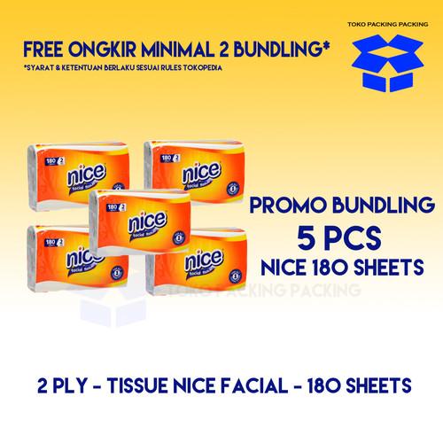 Foto Produk [Promo Bundling] Tissue Nice 180s x 5 pcs(Berat kurang lebih 900 Gram) dari Packing Packing