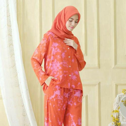 Foto Produk Galaxy Teracota Sleepwear / Pajamas One Set dari Amani Indonesia