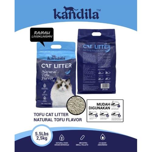 Foto Produk Kandila Tofu Cat Litter Clump Pasir Kucing Tahu Soya 2.5kg 5.5lbs 6ltr - ORIGINAL dari Hime petshop