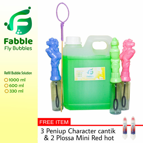 Foto Produk [Gratis ongkir] Fabble Cairan Gelembung Balon Sabun refill 1 liter dari Fabble