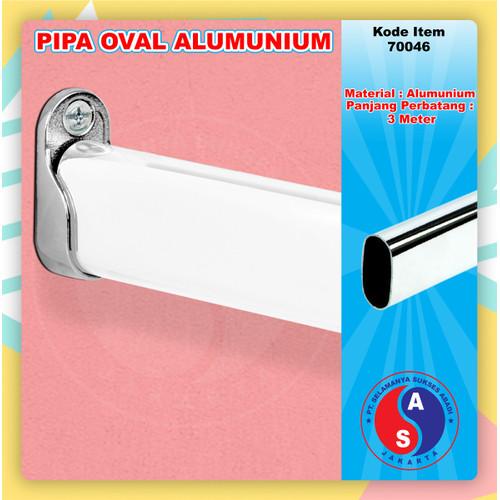 Foto Produk Pipa Oval Aluminium 300 cm 3 meter / Pipa Gantungan Baju Oval / 70046 dari WINSTON SUKSES ABADI