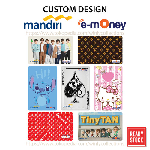 Foto Produk Kartu Emoney Etoll Mandiri Custom Design 1 sisi Saldo 30 rb dari Winly Collections