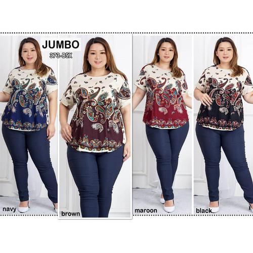 Foto Produk Blouse Batik Super Jumbo Bigsize Baju Atasan Wanita Big Size 373 vol 1 dari Paphika