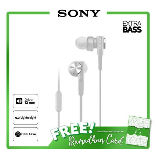 Foto Produk SONY MDR-XB55AP White Extra Bass Earphone / XB55AP / XB-55AP / 55AP dari Sony Audio Official