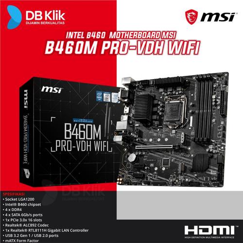 Foto Produk Motherboard MSI B460M PRO-VDH WIFI dari DBklik Semarang