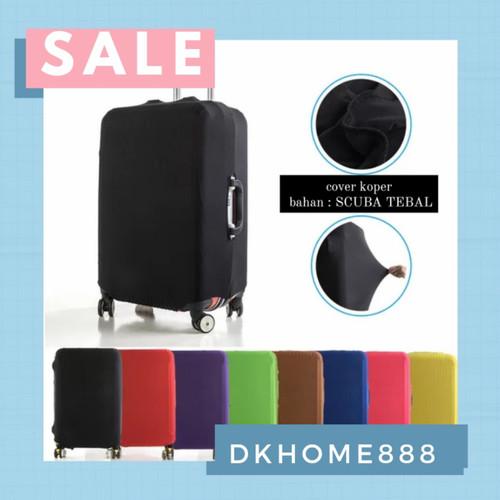 Foto Produk sarung koper / luggage cover size S - XL - S, Merah dari dkhome888