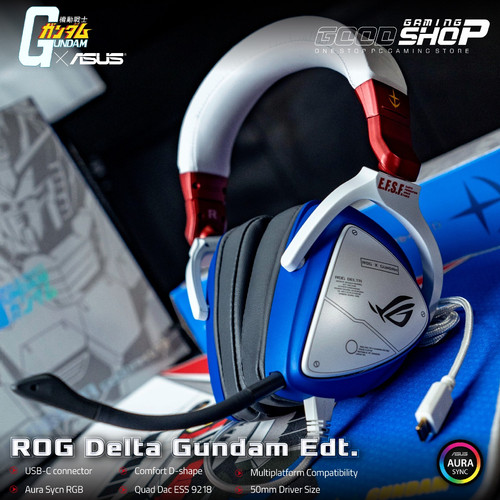 Foto Produk ASUS ROG Delta GUNDAM EDITION RGB - Gaming Headset dari GOODGAMINGM2M