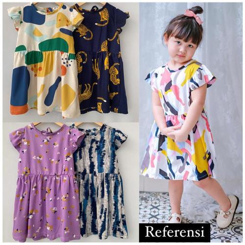 Foto Produk Daster Anak Dress Pakaian Anak Perempuan Cewek Umur 1 2 3 4 5 Tahun - Emilly dari Distrosul888