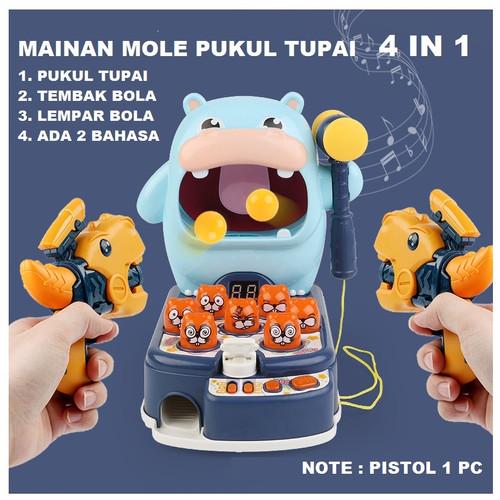 Foto Produk Mainan Anak mesin Whack a mole, pukul kepala tupai 2IN1 LED LAMPU - KUDA NAIL 4IN1 dari KADOJASPER