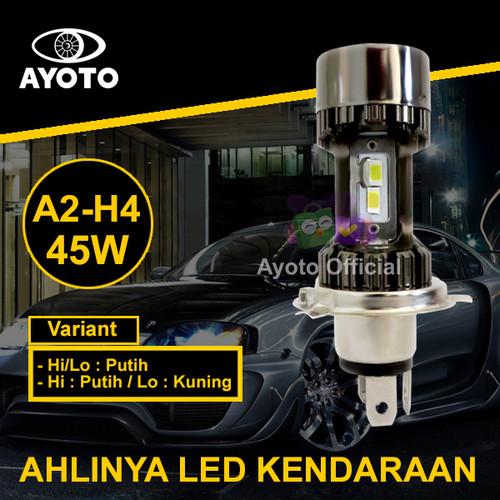 Foto Produk (1 pc) Lampu LED Mobil AYOTO A2-H4 PNP 45 Watt 10000LM - Putih/Putih dari Ayoto Official
