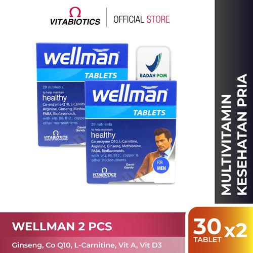 Foto Produk Vitabiotics Wellman 2 pcs Vitamin Kesehatan Vitalitas Pria dari Vitabiotics Indonesia