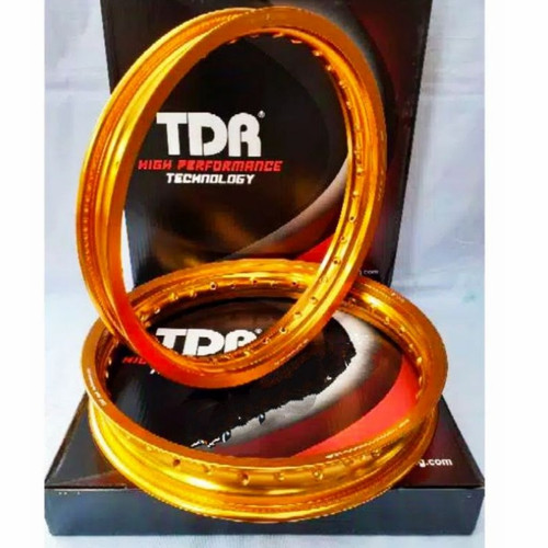 Foto Produk Velg TDR W Kotak 185 215 Ring 17 SET Gold ORIGINAL not tk excel rossi dari SerbaDotCom