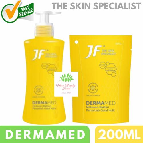 Foto Produk JF Sulfur Sabun Mandi Dermamed Liquid Cleanser 200ml - Refill 200ml dari Noor Beauty