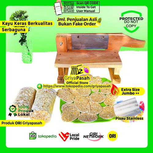 Foto Produk Pemotong tempe sagu tapioka untuk keripik tipis mini - Kayu Mahoni dari Griyapasah Official Store