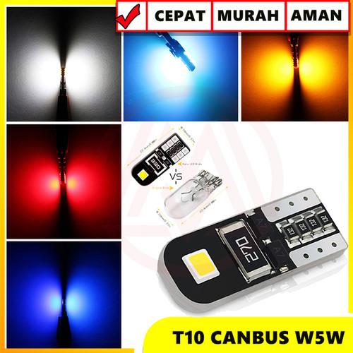 Foto Produk Lampu LED T10 W5W CANbus Black 2 Sisi ERROR FREE Super Bright - Biru dari Modifikasi Market