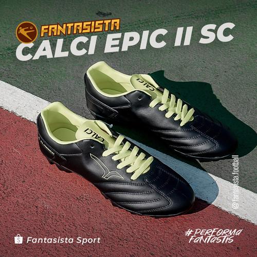 Foto Produk SEPATU BOLA CALCI - EPIC 2 SC - ORIGINAL - Black/Neon, 38 dari fantasista football