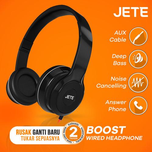 Foto Produk Headset | Handsfree | Headphone JETE BOOST Super Bass - Hitam dari JETE Official Surabaya