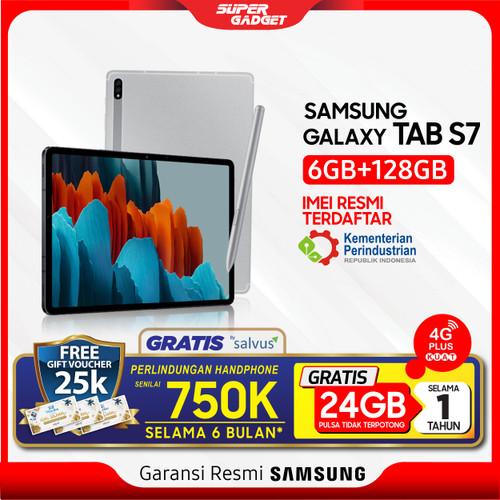 "Foto Produk Samsung Tab S7 6/128 GB 11"" 10 inch Galaxy T875 11 Inch RAM 6 ROM 128 - Silver dari SUPER_GADGET"