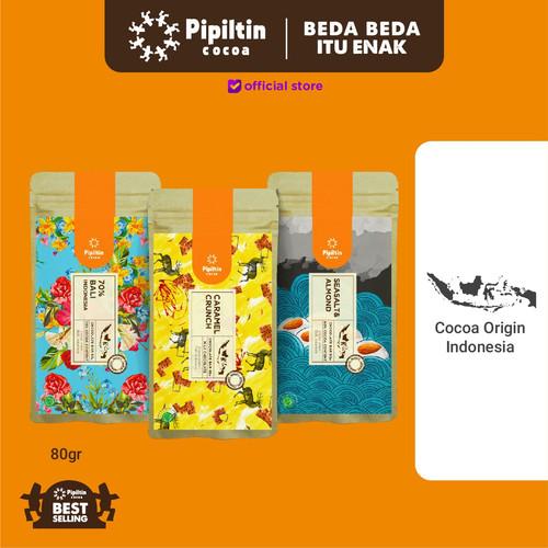 Foto Produk Pipiltin Cocoa Chocolate - Chocolate Package 3 Bar 80gr dari Pipiltin Cocoa