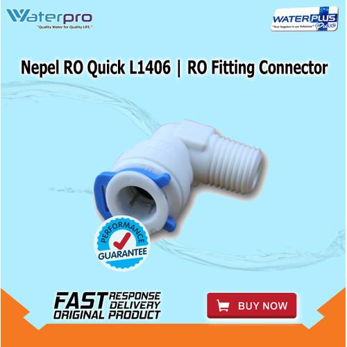 Foto Produk Nepel RO Quick L1406 | RO Fitting Connector dari WaterplusPure