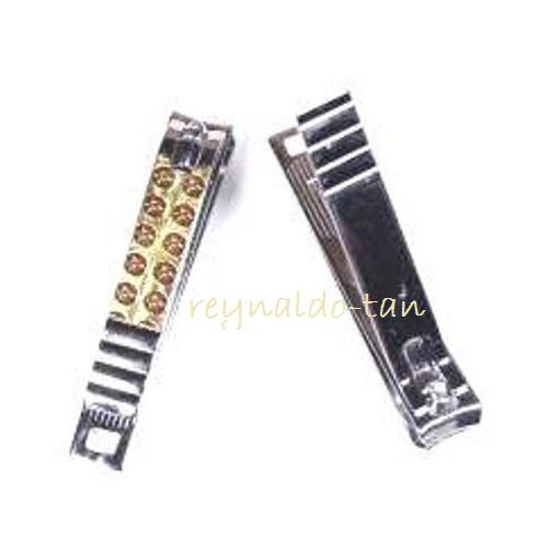Foto Produk 12 Pcs Gunting Kuku Besar Motif Emas Corak Elegan Panjang 7cm Maxowell dari reynaldo-tan