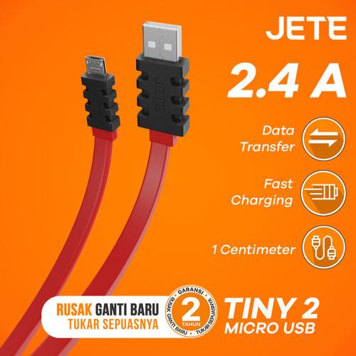 Foto Produk Kabel Data Micro USB JETE TINY2 2.4A Fast Charging - Hitam dari JETE Official Surabaya