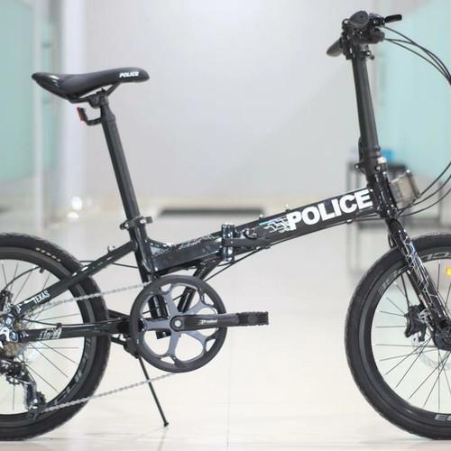 Foto Produk Sepeda lipat 20 Element Police Texas New dari cinhin jaya cycle shop