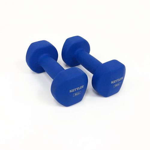 Foto Produk Kettler 701-030 Neoprene Dumbell - Dark Blue [8 kg/ Pair] 002002019 dari MG Sports & Music