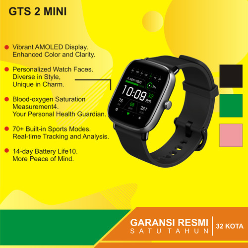 Foto Produk Amazfit GTS 2 Mini Fitness Smartwatch   International Version RESMI - Hitam dari Kardel Shop
