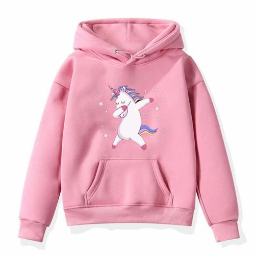 Foto Produk PROMO!!Sweater anak perempuan UNICORN jaket anak baju anak perempuan/H - pink dari face smile
