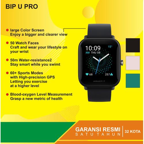 Foto Produk Amazfit Bip U PRO Series Smartwatch - Garansi Resmi 1tahun - Hitam dari Kardel Shop
