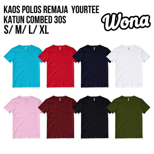 Foto Produk Kaos Polos YOURTEE Remaja Usia 9-12 Tahun Unisex Bahan KatunCombed 30s - Maroon, XS dari WONA OFFICIAL