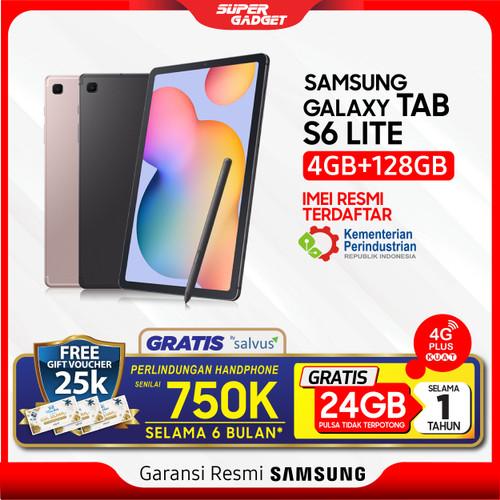 "Foto Produk ""Samsung Tab S6 Lite 4/128 GB 10.4"""" 10 inch P615 Spen RAM 4 ROM 128"" - Biru dari SUPER_GADGET"